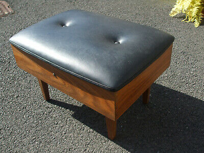 Vintage Danish teak workbox stool, high quality, stylish and practical