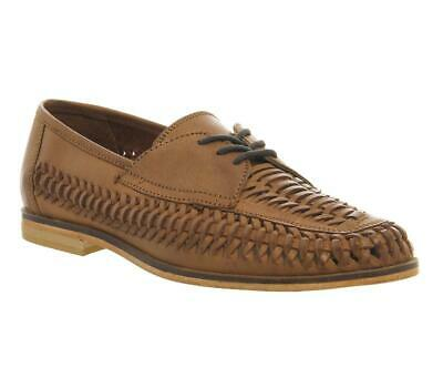 Mens Office Tan Leather Lace Up Casual Shoes Size UK 7 *Ex-Display