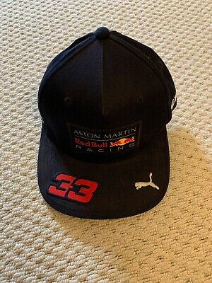 Brand New With Tags F1 Aston Martin Red Bull Racing M Verstappen Flat Cap Navy