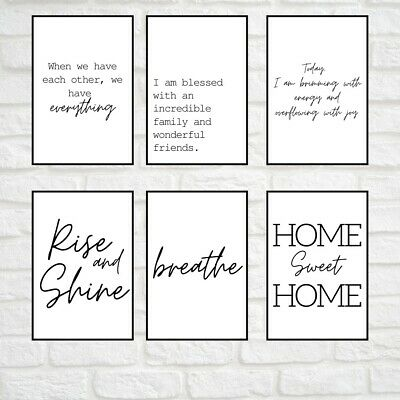 Home Prints, Family Quotes, Minimalist Wall Art Poster. Quality Home Pictures