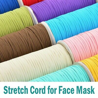 3mm Flat Elastic Band Stretch Cord Costume Clothing DIY Materials Sewing