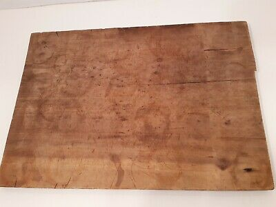 OLD Antique Wooden Cutting Chopping Board Patina Country Primitive AAFA 22X16