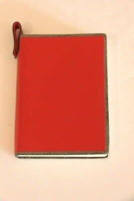 Pinetti Red Leather Notebook Journal Diary Handmade in Italy