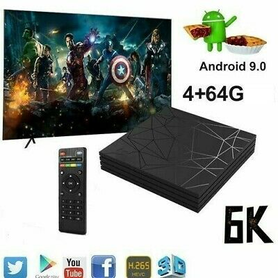 SMART TV BOX Q6 PLUS 6K MAX RAM 4GB 64GB ANDROID 9.0 4K WI-FI  + Mini Tastiera
