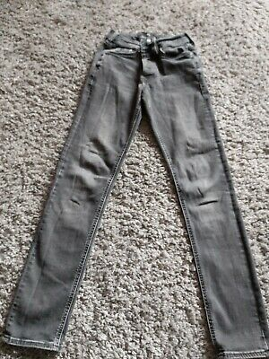 Mens/Boys River Island faded black skinny jeans 26x32