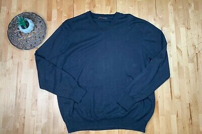 Zara Man Dark Blue Long Sleeve Pullover Sweatshirt Sweater Size Xl