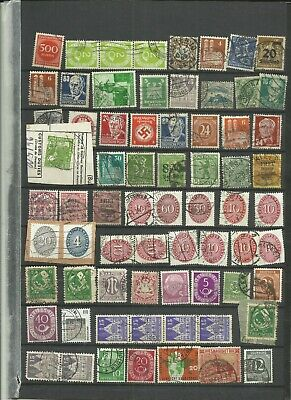 Germany middle period used stamps unsorted lot 57