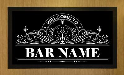 Personalised Welcome Lager Beer Lable Bar Runner Pub Club Cafe Cocktail Mat