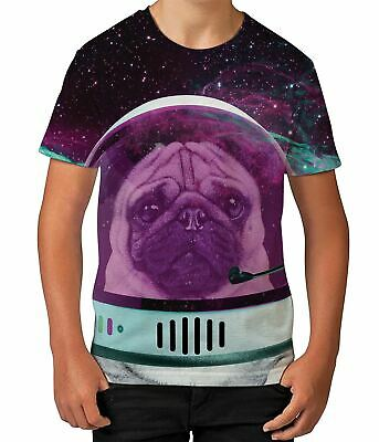Astro Pug Space Novelty Funny Astronaut Spaceman Mens Wallet Credit Card Holder
