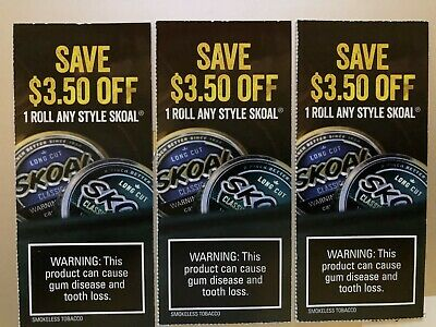 3 Skoal Coupons ($10.50 value!)