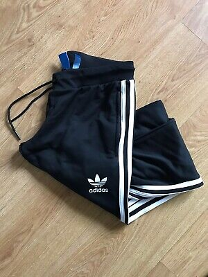 ADIDAS ORIGINALS Tracksuit Pants Bottoms Women's Girls U.K. 12 Black Joggers Jog