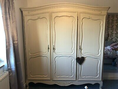 French Armoire Wardrobe Shabby chic Triple Wardrobe