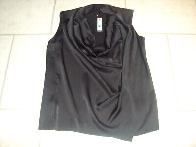 Bnwt Marks & Spencer (M&S) Autograph Black Cowl Neck Top, Size 14
