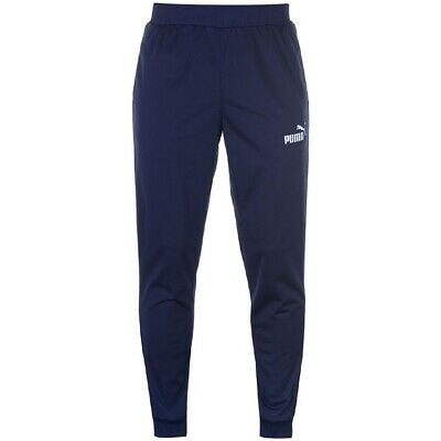 PUMA Poly Tracksuit Bottoms Joggers Mens Navy Size UK 2XL *REF155