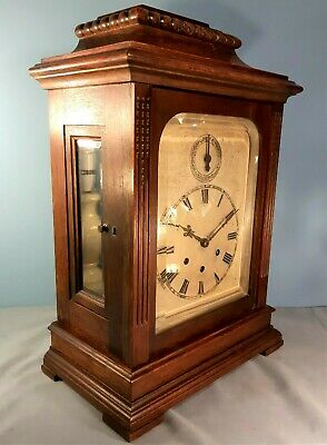 Antique Gustav Becker Westminster Chimes Large Mantle Clock