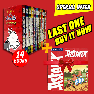 Diary Of A Wimpy Kid Collection 🔥14 pdf Books🔥Set By Jeff Kinney +gift
