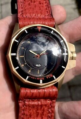 Vintage VDB Handmade Maritime 8 Bronze RED Power Swiss Automatic 47mm German