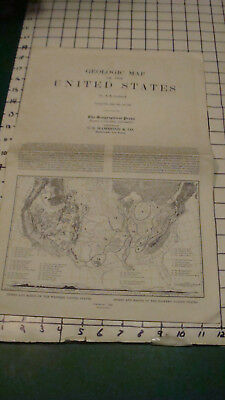 Vintage Original -- GEOLOGIC MAP of the US a k lobeck 1958 folded as issued
