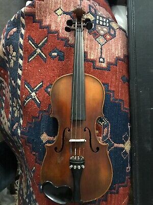 1/2 Size 12.5-inch Body Violin Stradivarius copy Made In Czechoslovakia