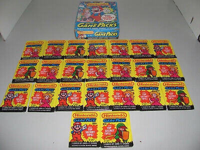 Topps 1989 Nintendo Game Pack Cards x 23 Sealed Cards And Box As Shown