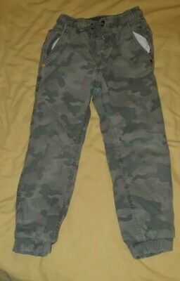 Boys Army Print Trousers Age 5
