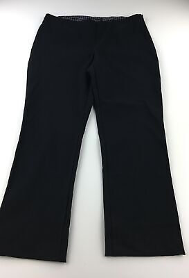 Lands' End Womens Pants Size 16 Black Dress Pants Career Work Stretch A58-11