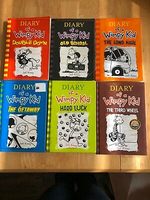Diary of a Wimpy Kid Collection 6 Books Set by Jeff Kinney Paperback & Hardcover