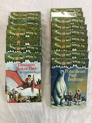 Magic Tree House Book Set 1-8 12 17 19-23 25 28 Lot Of 17 Reading Book Lot Mary