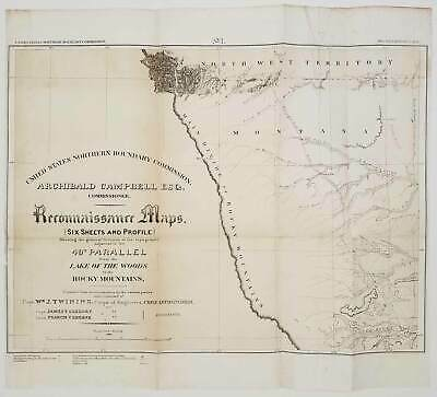 MONTANA / DAKOTAS / MINNESOTA / United States Northern Boundary Commission 1878