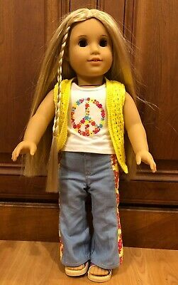 """AMERICAN GIRL JULIE ALBRIGHT 18"""" DOLL W/ Forever Meet Outfit"""