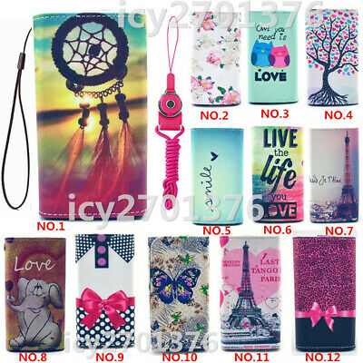 #4 Cartoon Leather slots wallet pouch bag cover case For Optus X Spirit 2