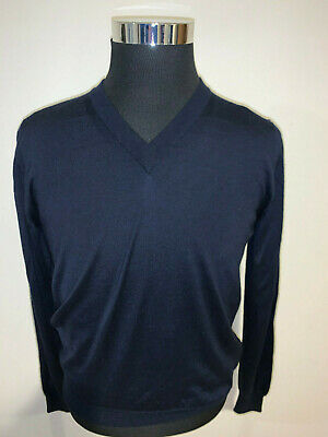 ⭐️ Men's Brioni Navy Blue Wool / Silk / Cashmere Sweater 38 / Small ⭐️