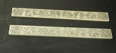 chinese old copper plating silver hand engraving eight weapons  paper weight a02