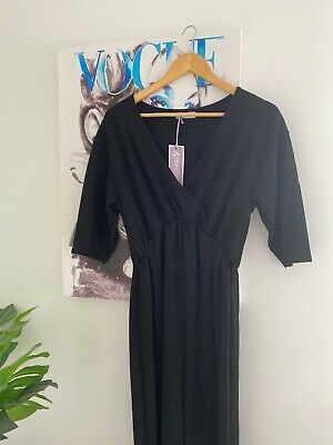New With Tags Bluebelle Black Maternity Jumpsuit Size 10