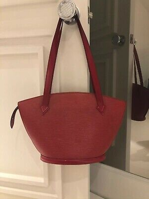 Steal This Authentic Louis Vuitton St.jacques Gm Red Epi Leather Bag/Purse