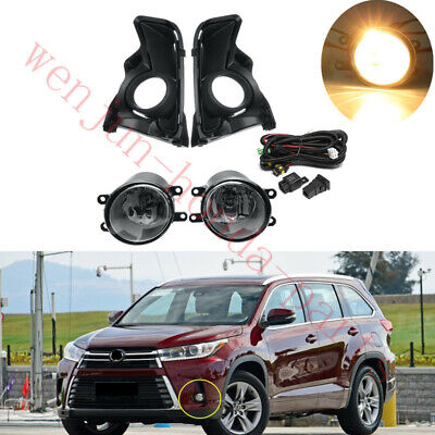 1 Set Bumper Light Fog Lamps w/ Switch Wiring Assy For Toyota Highlander 2017-19