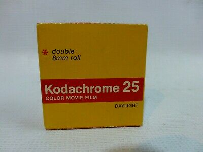 Kodachrome 25 Color Movie Film Double 8 mm Roll 7.5 m 25 ft Daylight 2/1981 NIB