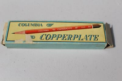 Vintage Australian COLUMBIA COPPERPLATE 700 4B Pencils In Original Box FREE POST