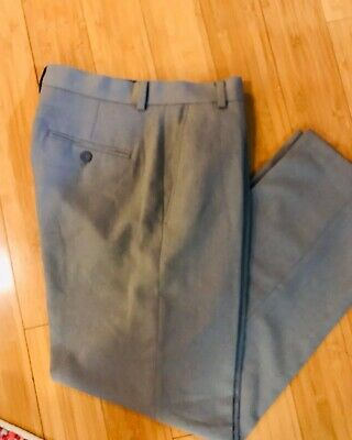 Kenneth Cole Reaction Mens Casual Dress Pants Slacks 30x30  Polyester Gray
