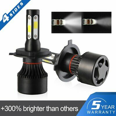UK New 4-Side H4 LED Headlight Car Bulbs 300W 36000LM High And Low Beam Bright