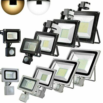 LED Floodlight Motion Sensor Security 100Watt Wall Light Outdoor PIR Flood Light