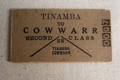 VR - Tinamba to Cowwarr - Second Class Single
