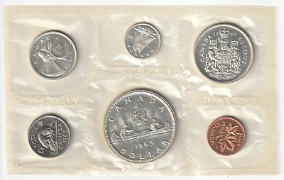 Kanada 1965 KMS, Royal Canadian Mint uncirculated, Canada, 3 x Silber, 3 Scans