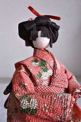 "About 11"" Japanese Old Washi Paper Doll"