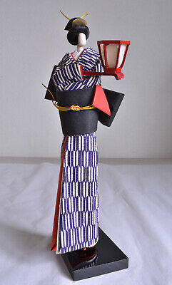 "About 10"" Japanese Old Washi Paper Doll Having a Japanese LANTERN"