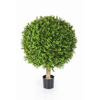 Boule de buis artificiel TOM 75cm Ø60cm-buis plastique/mini plante artificielle
