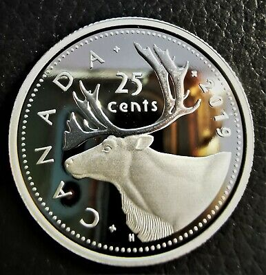 2019 Canada .9999 Fine Silver Proof 25 Cents - Uncirculated Quarter from Set