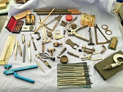 Watchmakers Estate Antique Vintage Lot Of Tools Watch Tools Excellent #1