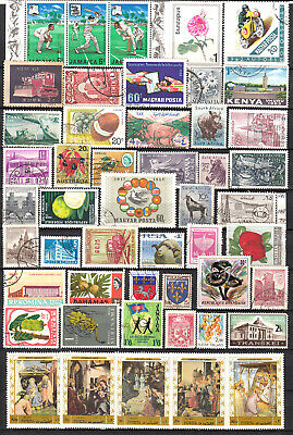 LOT 9A PAGE WORLD MIX OF STAMPS, some mint, ALL DIFF.