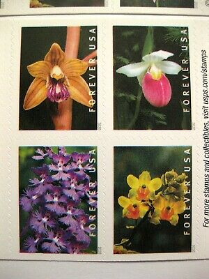 WILD ORCHIDS FOREVER STAMPS U.S.POSTAGE Full Stamp Sheet Book of 20 MNH